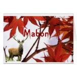 Mabon - bendiciones del equinoccio del otoño tarjeta