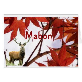 Mabon - bendiciones del equinoccio del otoño tarjeta de felicitación