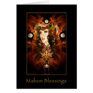 Mabon Blessings - Autumn Goddess Blank Card