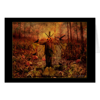 Mabon Blessings - Harvest Scarecrow Greeting Card