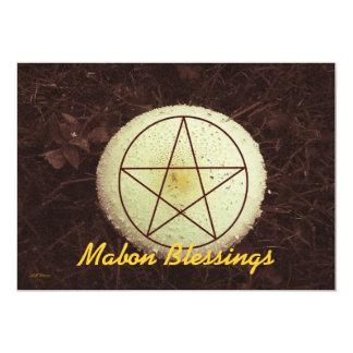 Mabon Mushroom Woodland Rustic Prim Botanical Announcement