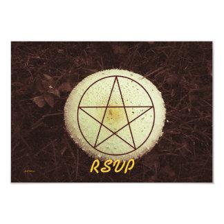 "Mabon Mushroom Woodland Rustic Prim Botanical RSVP 3.5"" X 5"" Invitation Card"