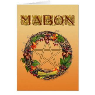 Mabon Wreath with Oak Letters Card