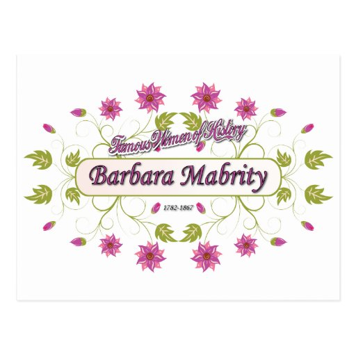 Mabrity ~ Barbara Mabrity ~ Famous American Woman Postcards