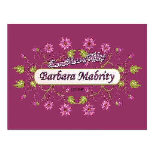 Mabrity ~ Barbara Mabrity ~ Famous American Woman Postcard
