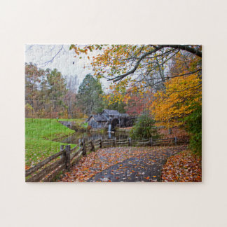 Mabry Mill in Autumn Jigsaw Puzzle