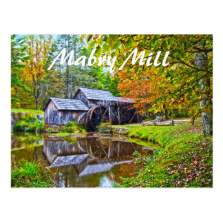 mabry mill virginia postcard