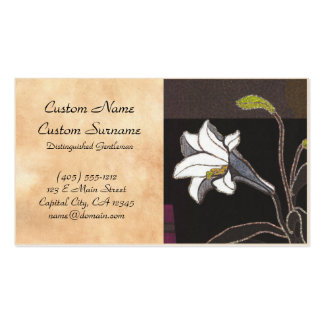 Mabuchi Toru Lilies ukiyo-e vintage fine art Double-Sided Standard Business Cards (Pack Of 100)