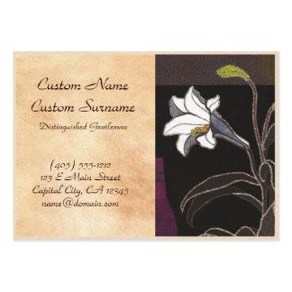 Mabuchi Toru Lilies ukiyo-e vintage fine art Large Business Cards (Pack Of 100)