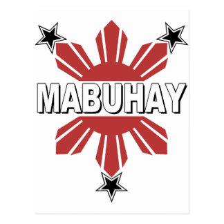Mabuhay Filipino Sun and Star Postcard