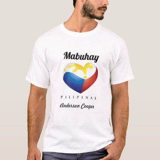 Mabuhay Pilipinas, Heart Flag Customize White Tee