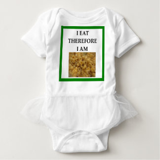 mac and cheese baby bodysuit