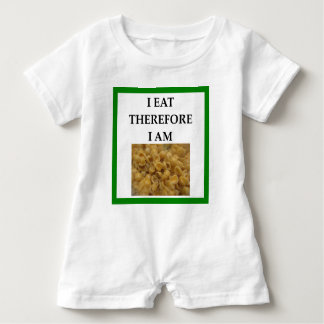 mac and cheese baby romper