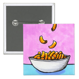 Mac and cheese fun colorful original tiny art button