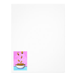 Mac and cheese fun colorful original tiny art letterhead