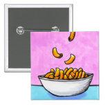 Mac and cheese fun colorful original tiny art pin