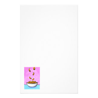 Mac and cheese fun colorful original tiny art stationery
