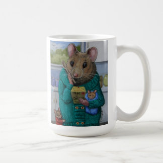 """""""Mac and Cheese"""" Moma mouse contemplates dinner Coffee Mug"""