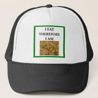 mac and cheese trucker hat