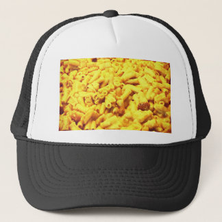 Mac and vegan cheese... trucker hat