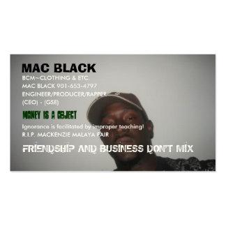 MAC BLACK, BCM~CLOTHING & ETC., MAC BLACK ... BUSINESS CARD