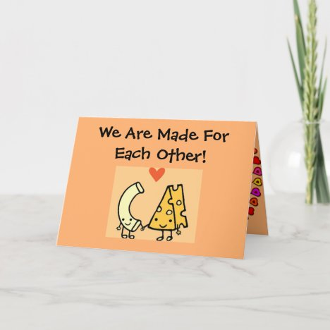 Mac & Cheese - Cute Valentines Day Card