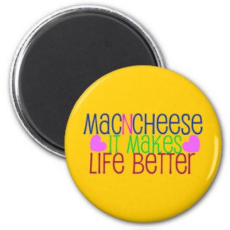 Mac & Cheese Life 2 Inch Round Magnet