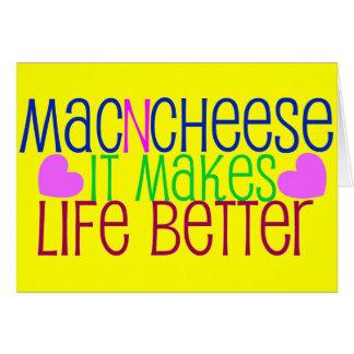 Mac & Cheese Life Greeting Card