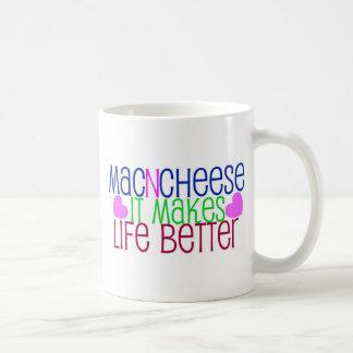 Mac & Cheese Life Classic White Coffee Mug