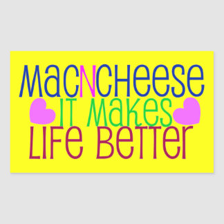 Mac Cheese Life Rectangular Sticker