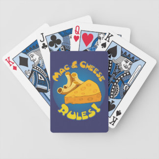 Mac & Cheese Rules Bicycle Playing Cards