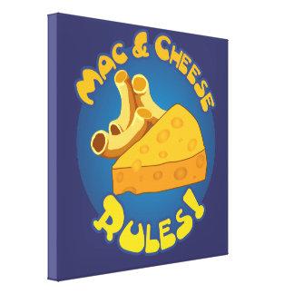 Mac & Cheese Rules Canvas Prints