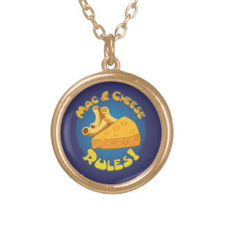 Mac & Cheese Rules Gold Plated Necklace