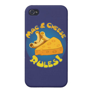 Mac & Cheese Rules iPhone 4/4S Covers