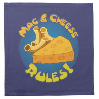 Mac & Cheese Rules Printed Napkin