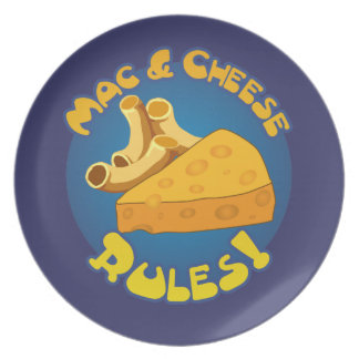 Mac & Cheese Rules Party Plates