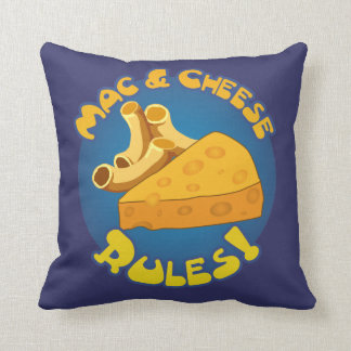 Mac & Cheese Rules Throw Pillow