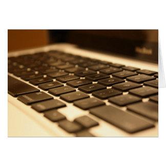 Mac Computer Keyboard Greeting Card