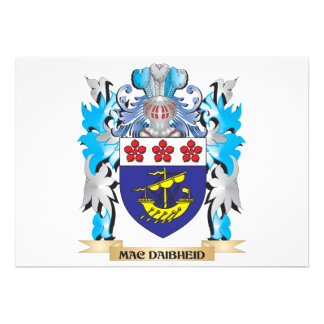 Mac-Daibheid Coat of Arms - Family Crest Invitations