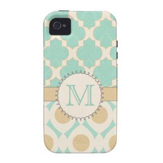 Mac de Mally del caso 4s de Quatrefoil MonogramiPh Case-Mate iPhone 4 Fundas
