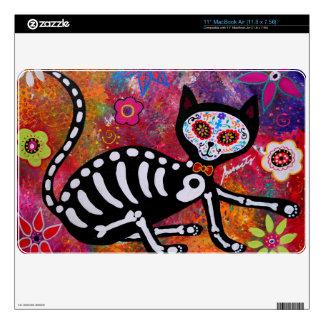 MAC DEL EL GATO CAT DIA DE LOS MUERTOS SKIN MacBook CALCOMANÍA