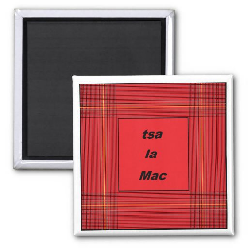 mac del la del tsa - cherokee - escocés imán de frigorifico