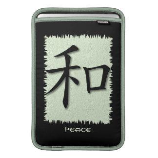 Mac & iPad Sleeve Chinese Symbol Peace