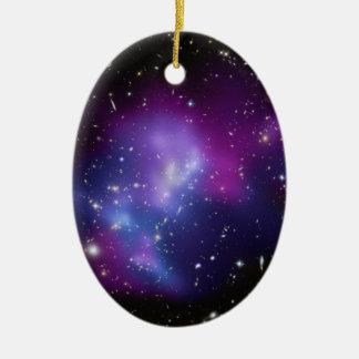MAC J0717 del racimo de la galaxia Adorno Navideño Ovalado De Cerámica