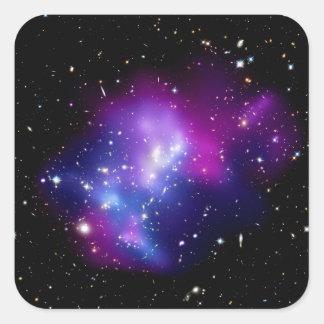 MAC J0717 del racimo de la galaxia Pegatina Cuadrada