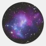 MAC J0717 del racimo de la galaxia Pegatina Redonda