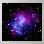 MAC J0717 (telescopio del racimo de la galaxia de  Poster