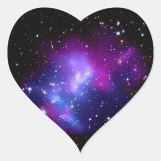 MAC J0717 (telescopio del racimo de la galaxia de Pegatina En Forma De Corazón