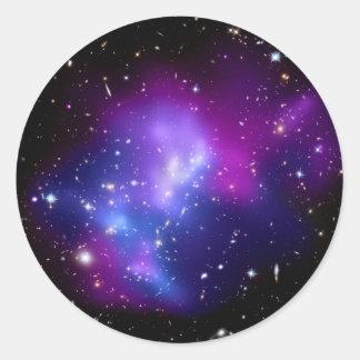 MAC J0717 (telescopio del racimo de la galaxia de Pegatina Redonda