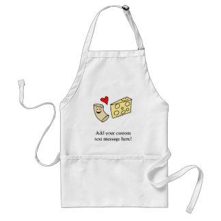 Mac Loves Cheese, Funny Cute Macaroni + Cheese Adult Apron